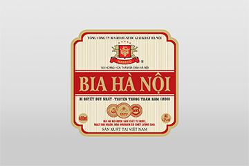 Nhãn bia Hà Nội