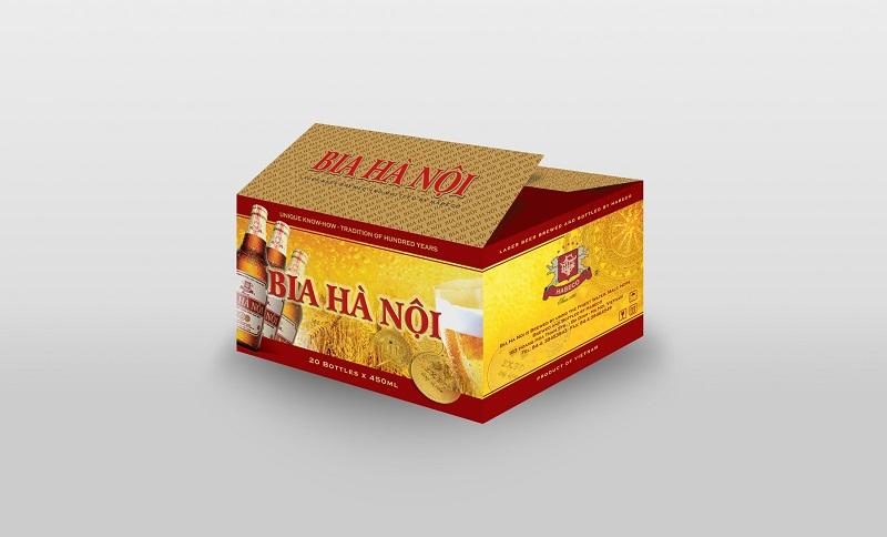 Hộp bia Hà Nội xuất khẩu