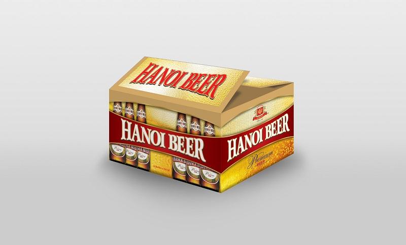 Hộp bia Hà Nội xuất khẩu 330ml